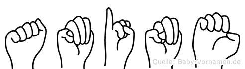 Amine im Fingeralphabet der Deutschen Gebärdensprache