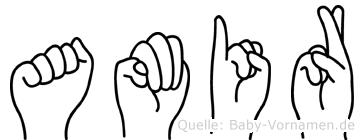 Amir in Fingersprache für Gehörlose
