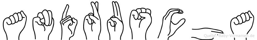 Andruscha in Fingersprache für Gehörlose