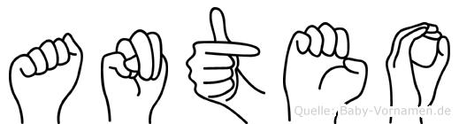 Anteo in Fingersprache für Gehörlose