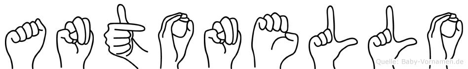 Antonello in Fingersprache für Gehörlose