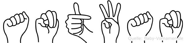Antwan in Fingersprache für Gehörlose