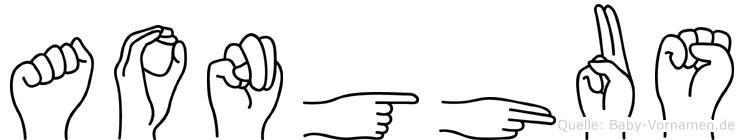 Aonghus in Fingersprache für Gehörlose