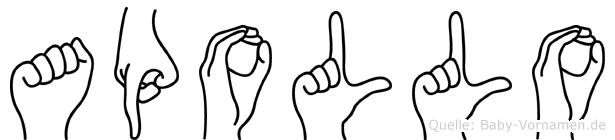 Apollo in Fingersprache für Gehörlose