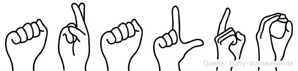 Araldo im Fingeralphabet der Deutschen Gebärdensprache