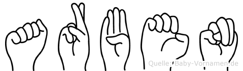 Arben in Fingersprache für Gehörlose