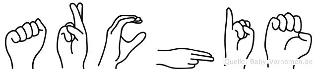 Archie in Fingersprache für Gehörlose