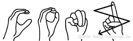 Conz im Fingeralphabet der Deutschen Gebärdensprache