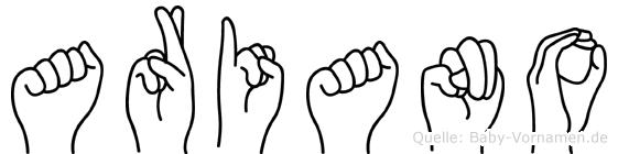 Ariano in Fingersprache für Gehörlose