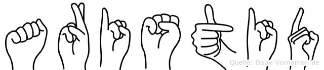 Aristid in Fingersprache für Gehörlose