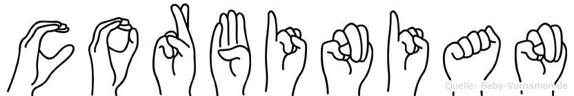 Corbinian im Fingeralphabet der Deutschen Gebärdensprache