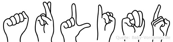 Arlind in Fingersprache für Gehörlose