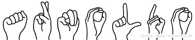 Arnoldo im Fingeralphabet der Deutschen Gebärdensprache