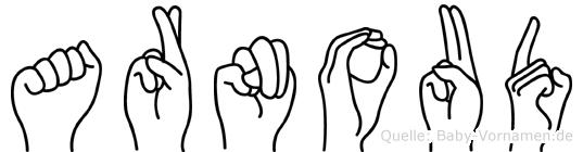Arnoud im Fingeralphabet der Deutschen Gebärdensprache