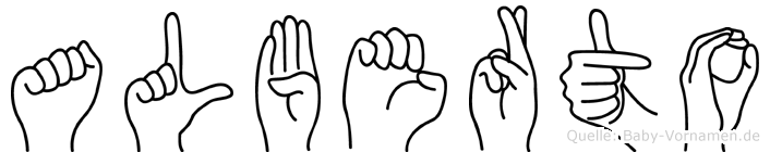 Alberto im Fingeralphabet der Deutschen Gebärdensprache