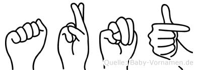 Arnt im Fingeralphabet der Deutschen Gebärdensprache