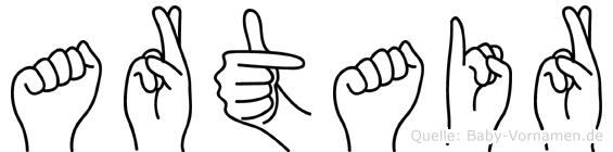 Artair im Fingeralphabet der Deutschen Gebärdensprache