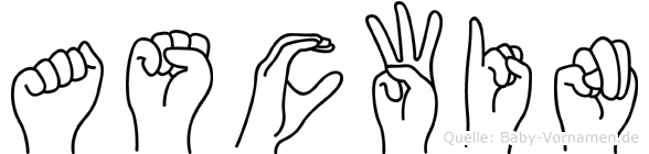 Ascwin im Fingeralphabet der Deutschen Gebärdensprache