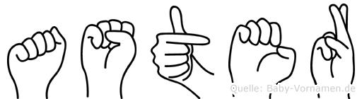 Aster in Fingersprache für Gehörlose