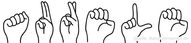 Aurele im Fingeralphabet der Deutschen Gebärdensprache