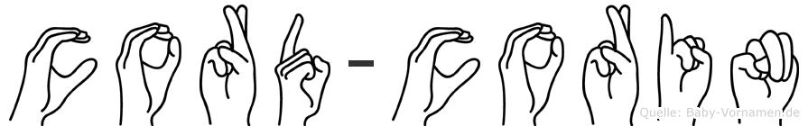 Cord-Corin im Fingeralphabet der Deutschen Gebärdensprache