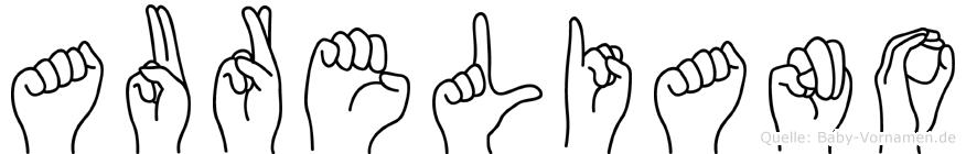 Aureliano in Fingersprache für Gehörlose