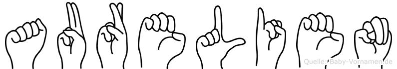 Aurelien im Fingeralphabet der Deutschen Gebärdensprache