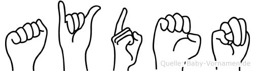 Ayden in Fingersprache für Gehörlose