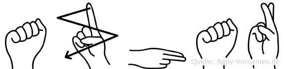 Azhar in Fingersprache für Gehörlose