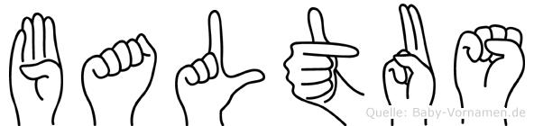 Baltus in Fingersprache für Gehörlose