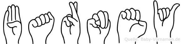 Barney im Fingeralphabet der Deutschen Gebärdensprache