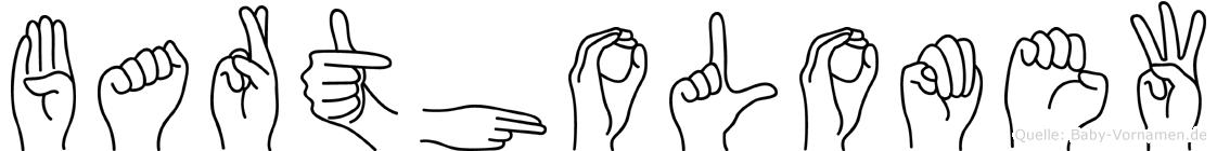 Bartholomew im Fingeralphabet der Deutschen Gebärdensprache