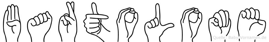 Bartolome im Fingeralphabet der Deutschen Gebärdensprache