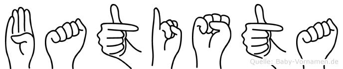 Batista im Fingeralphabet der Deutschen Gebärdensprache