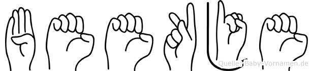 Beekje im Fingeralphabet der Deutschen Gebärdensprache