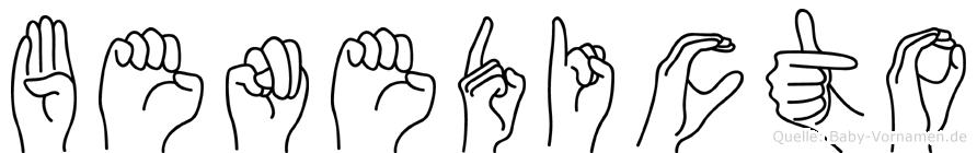 Benedicto in Fingersprache für Gehörlose