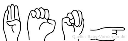 Beng im Fingeralphabet der Deutschen Gebärdensprache