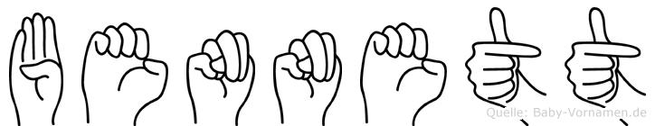 Bennett im Fingeralphabet der Deutschen Gebärdensprache