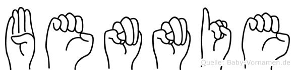 Bennie im Fingeralphabet der Deutschen Gebärdensprache