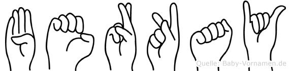 Berkay im Fingeralphabet der Deutschen Gebärdensprache