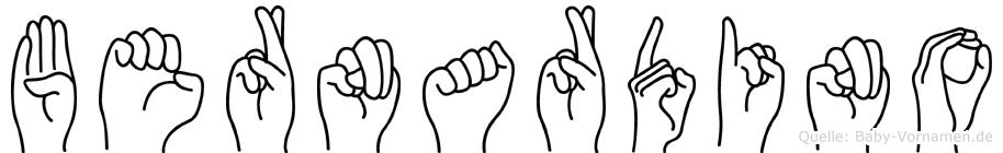 Bernardino in Fingersprache für Gehörlose