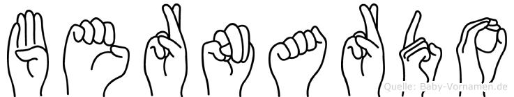 Bernardo in Fingersprache für Gehörlose