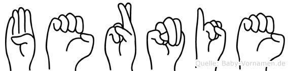 Bernie in Fingersprache für Gehörlose