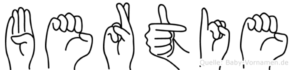 Bertie in Fingersprache für Gehörlose