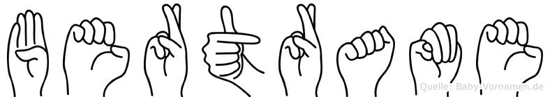 Bertrame in Fingersprache für Gehörlose