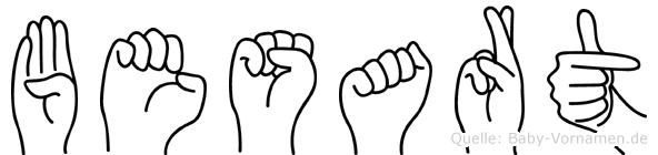 Besart im Fingeralphabet der Deutschen Gebärdensprache