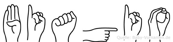 Biagio in Fingersprache für Gehörlose