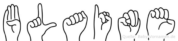 Blaine im Fingeralphabet der Deutschen Gebärdensprache