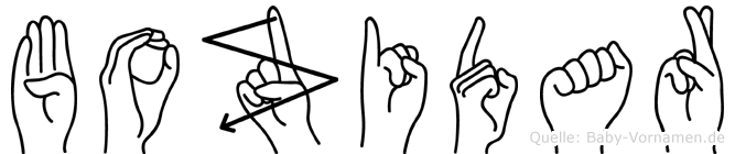 Bozidar im Fingeralphabet der Deutschen Gebärdensprache