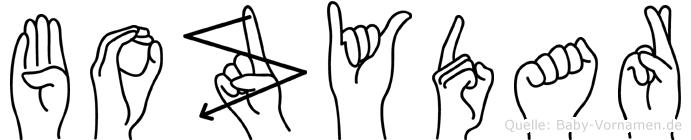 Bozydar in Fingersprache für Gehörlose